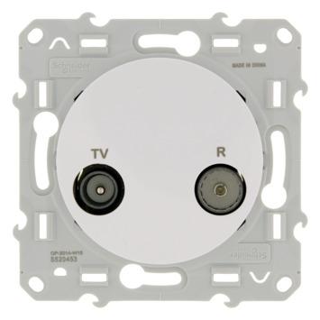Schneider Electric Merten Odace stopcontact coax wit