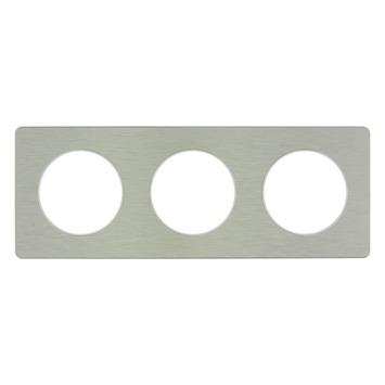 Schneider Electric Odace afdekraam 3-voudig aluminium/wit