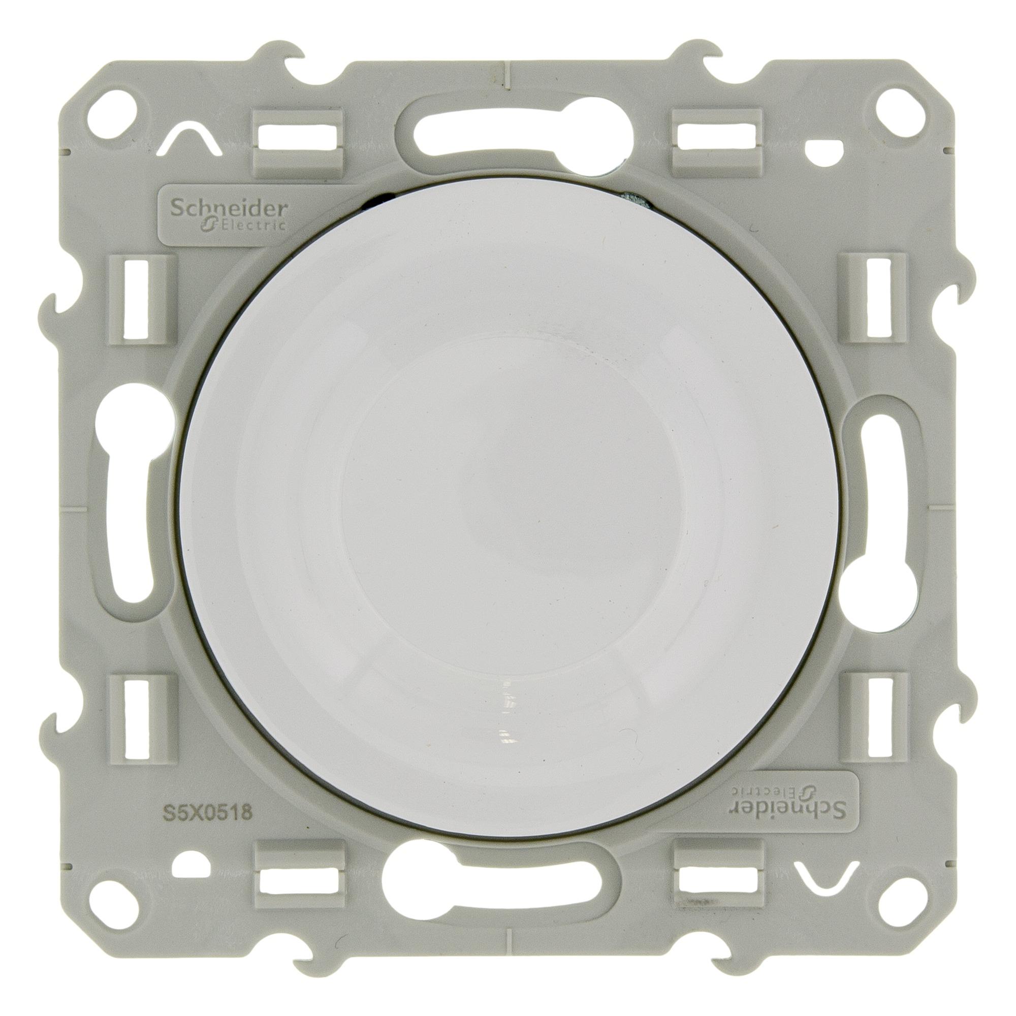 Schneider Electric Odace dimmer inbouw spaarlamp wit
