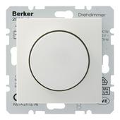 Berker S1 dimmerknop + centraalplaat wit