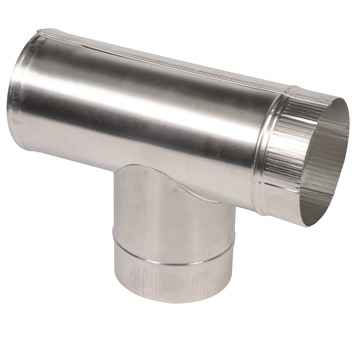 T-stuk aluminium 130 mm