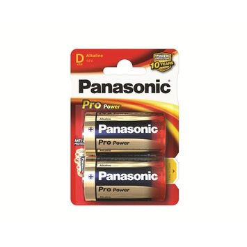 Panasonic Pro Power Batterij D 1,5 V 2 Stuks