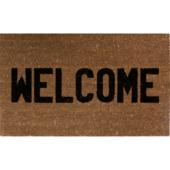 Deurmat Welcome bruin/zwart 45x75 cm kokos