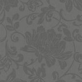 Vliesbehang bloem zwart (dessin 31-856)