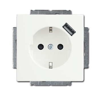 Busch-Jaeger Future Linear Stopcontact met USB Wit
