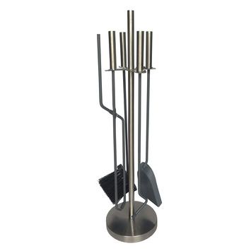 Kachel accessoiresset modern rvs (5-delig)
