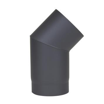 Kachelpijp bocht 45° enkelwandig antraciet Ø150 mm