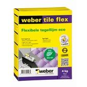 Weber SG poeder tegellijm Tile Flex Eco grijs 4 kg