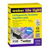 Weber SG poeder tegellijm Tile Light grijs 2,5 kg