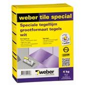 Weber SG poeder tegellijm Tile Special wit 4 kg