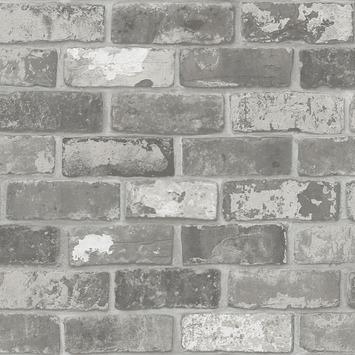 vtwonen vliesbehang Bricks grijs (dessin 2234-03)