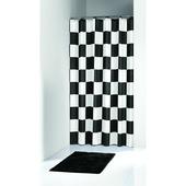 KARWEI Chess douchegordijn zwart/wit 180 x 200 cm