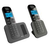 AEG Voxtel DECT telefoon D500 duoset zwart