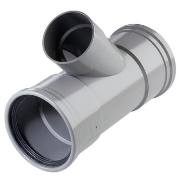 Martens PVC T-stuk 45° 2x manchet 110x75 mm