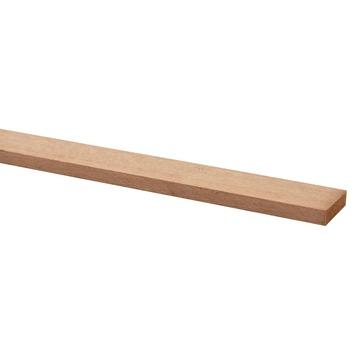 Bouwhout hardhout geschaafd 9x35 mm lengte 210 cm