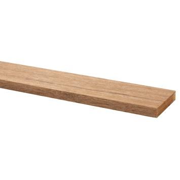 Bouwhout hardhout geschaafd 12x68 mm lengte 210 cm