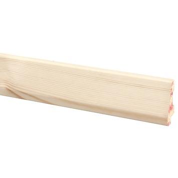 Muurplint massief grenen 240 cm