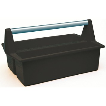 ERRO pluggen- en spijkerbak zwart 17x40x22 cm
