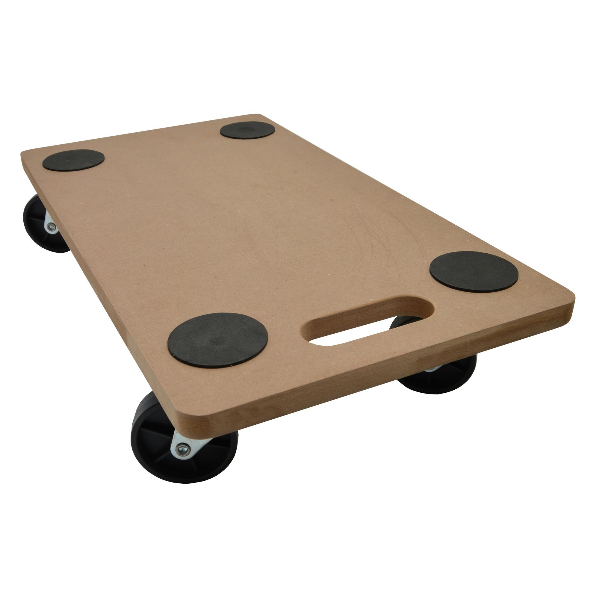 Handson meubeltransporter mdf 56×30 cm met harde wielen en anti-slip (max. 200 kg)