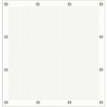 Cubic windscherm wit 90x90 cm
