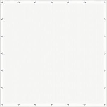 Cubic windscherm 180 x 180 cm wit