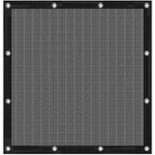 Cubic windscherm zwart 90x90 cm