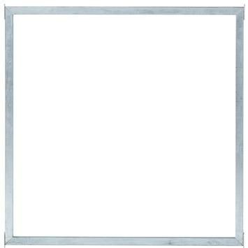 Cubic scherm helder glas met frame 90x90 cm
