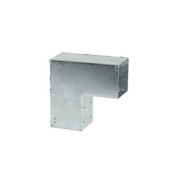 Cubic Paalhouder voor pergola hoekstuk 7x7 cm gegalvaniseerd