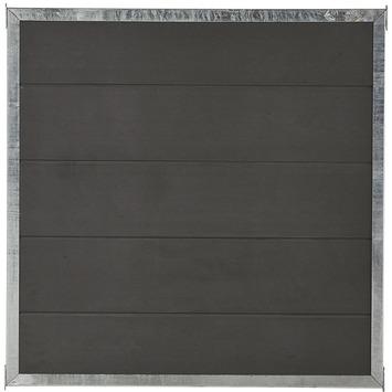 Cubic scherm HKC Kunststof met frame zwart 90x90 cm