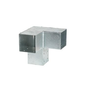 Cubic Paalhouder voor pergola hoekstuk dubbel 7x7 cm gegalvaniseer
