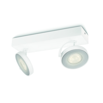Philips duospot Clockwork wit - Incl 2X LED 4W dimbaar