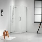 Get Wet Impact Douchecabine Kwartrond met 2 swingdeuren 100x195 cm chroom