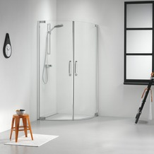 Get Wet Impact Douchecabine Kwartrond met 2 swingdeuren 90x195 cm chroom