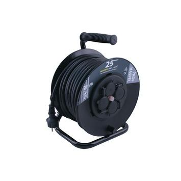 ETM kabelhaspel professioneel zwart 25 m