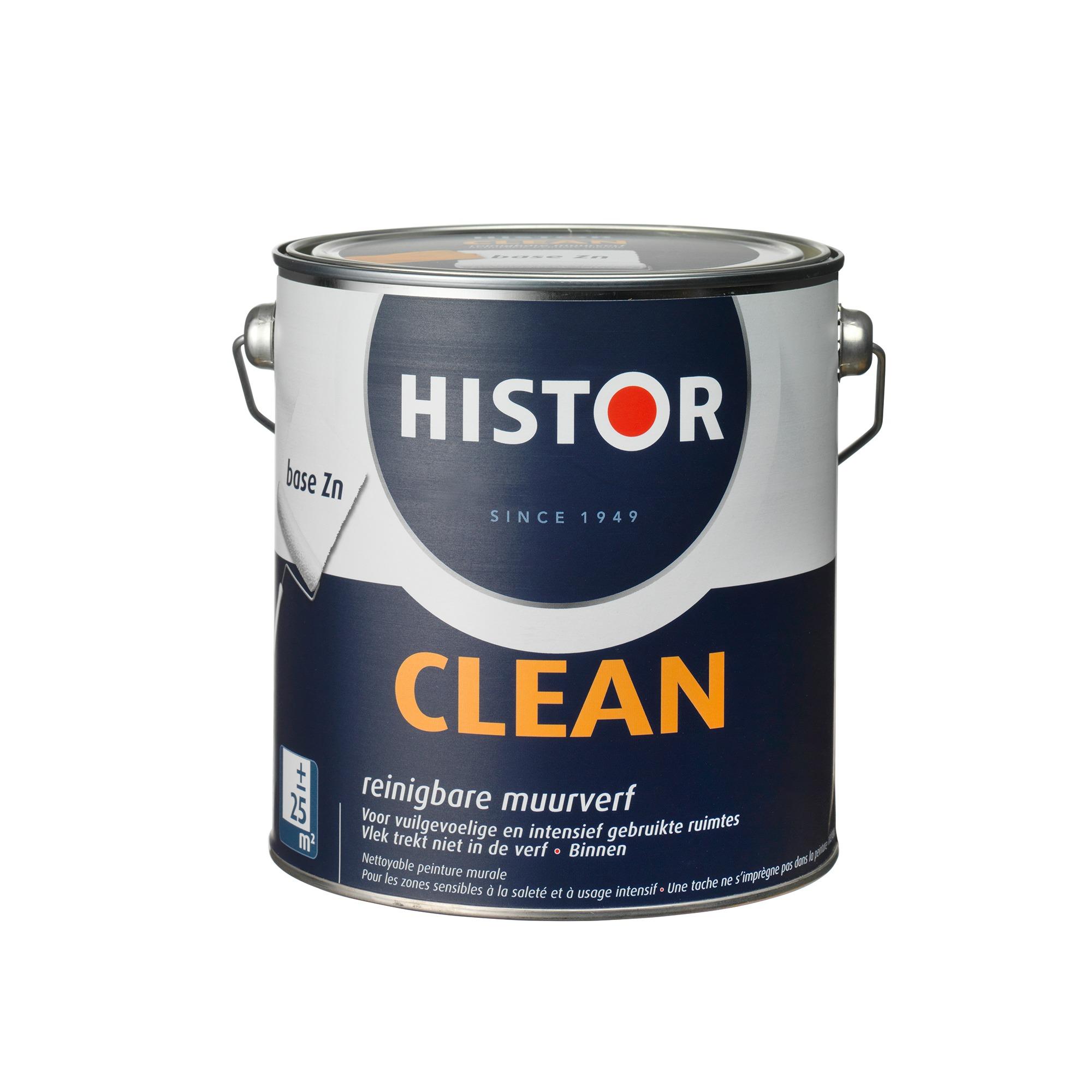 Histor Clean Muurverf RAL 9010 2,5 l
