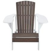 Clubchair Summerville bruin/wit