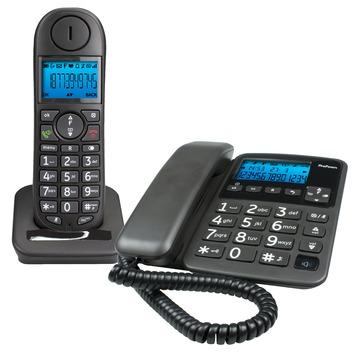 Profoon DECT telefoon PDX-6350 combiset zwart