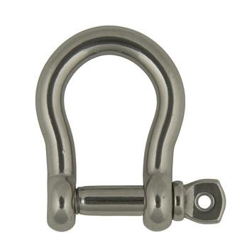 Harpsluiting bol rond met schroefpen 12mm