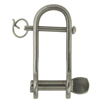 Harpsluiting lang met borgpen plat 8mm