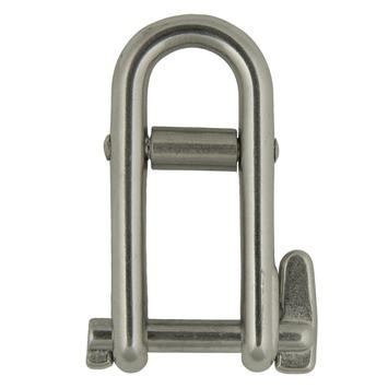 Harpsluiting lang afgerond met borgpen en brug 5mm