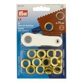 Ringen 11mm messing 15 stuks