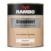 Rambo grondverf hout binnen zuiverwit 750 ml