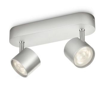 Philips duospot Star aluminium - Incl 2X LED 3W dimbaar