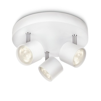 Philips triospot Star wit - Incl 3X LED 3W dimbaar