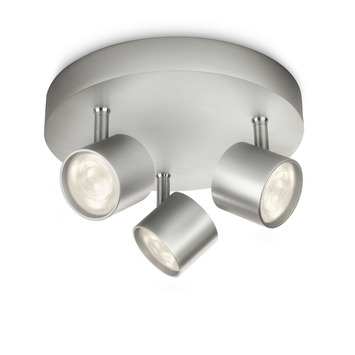 Philips triospot Star aluminium - Incl 3X LED 3W dimbaar