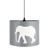 Hanglamp Ollie olifant zwart-wit