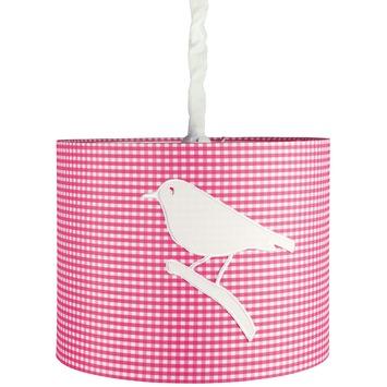 Hanglamp Fenna vogels fuchsia-wit