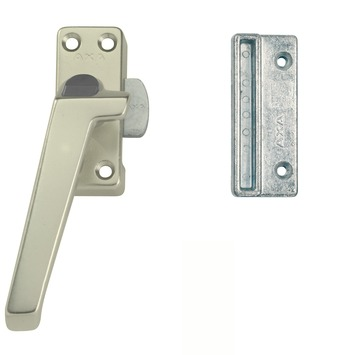 AXA raamsluiting links aluminium met knop buitendraaiend