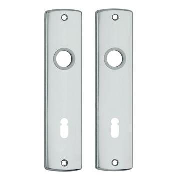 AXA langschild binnendeur aluminium kruk/sleutel 72 mm