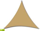 Schaduwdoek driehoek zand 5 m